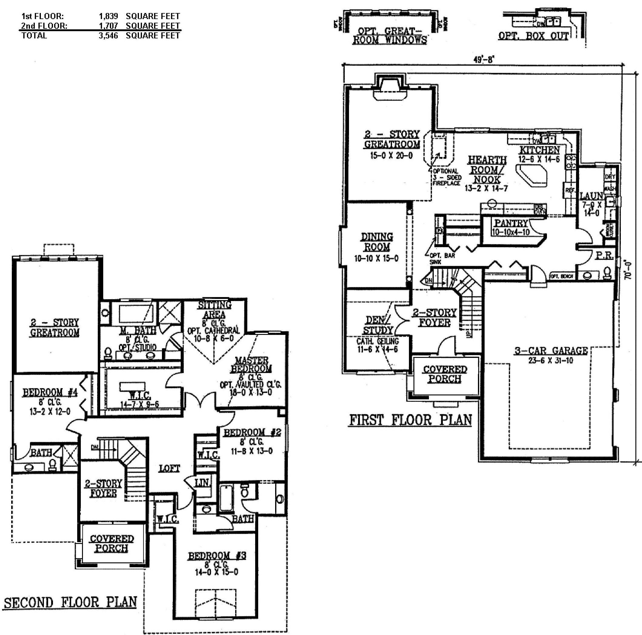 Ambassador-optional upstairs layout