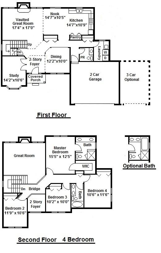 Cypress 4 Bedroom Floor Plan