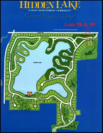 Hidden Lake, South Lyon, MI - Site Map